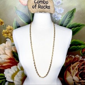 Sarah Coventry Gold Tone Long Statement Necklace